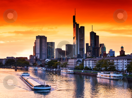 Frankfurt am Main, Germany stock photo, Sunset in Frankfurt am Main, Germany by Interlight