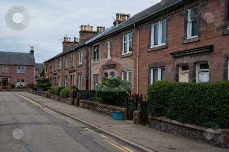 Inverness stock photo, Residential street in Inverness, Scotland by Jaime Pharr