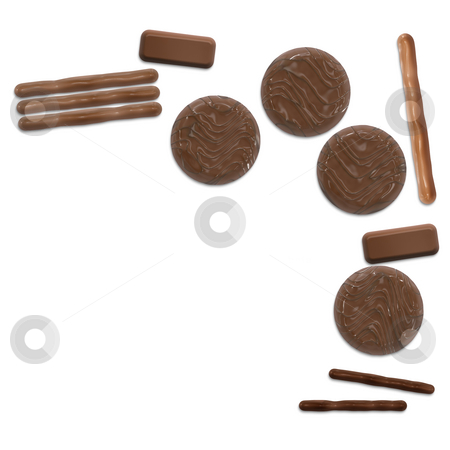 Chocolate stock photo, An illustration of a nice chocolate background by Markus Gann
