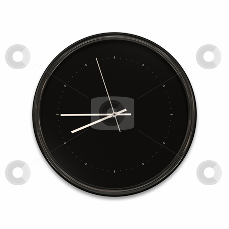 Clock stock photo, An illustration of a big black clock by Markus Gann