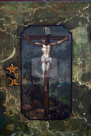 Jesus crucified on the cross stock photo, Jesus crucified on the cross by Zvonimir Atletic