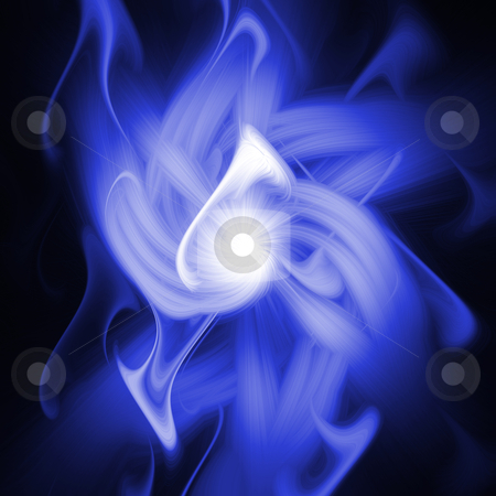 Fire illustration stock photo, A blue fire illustration by Koen Adriaenssen