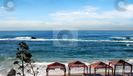 Beach of Mediterranean sea stock photo, Beach of Mediterranean sea in Bat Yam, Israel by Tatjana Keisa