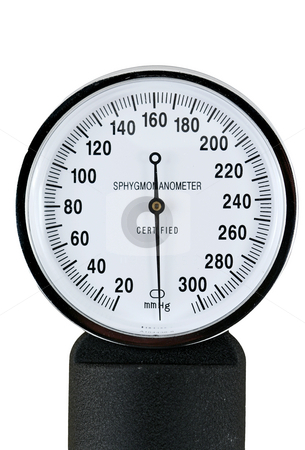 Sphygmomanometer stock photo, A sphygmomanometer for taking blood pressure by Jim Mills