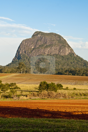 Glasshouse Mountains, Queensland, Australia, August 2009 stock photo, A mountain viewed at sunset in Queensland by Giovanni Gagliardi