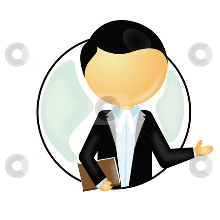 Lawyer stock photo, View of lawyer in his coat and holding a book by Abhishek Poddar