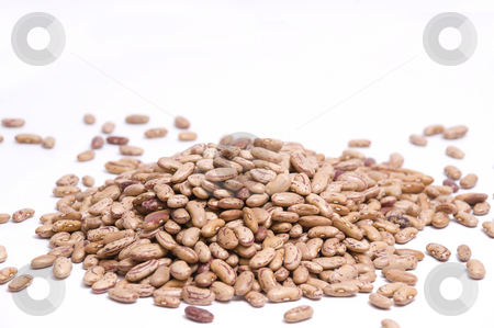 Pinto beans close-up stock photo, Close up on a large pile of pinto beans by Olivia Neacsu