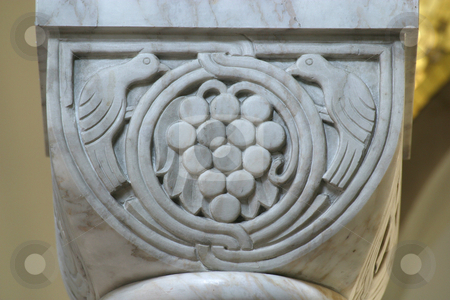 Historic Church Column Ornate Detail close up stock photo, Historic Church Column Ornate Detail close up by Zvonimir Atletic