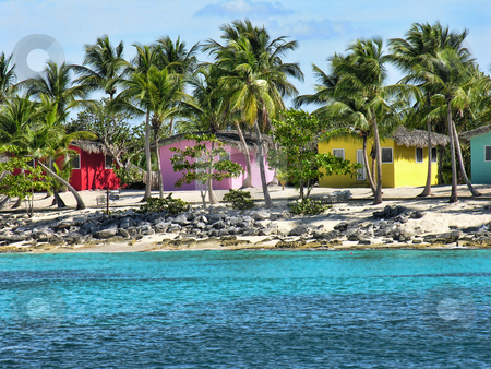 Small and Coloured Homes on the Coast of Santo Domingo stock photo, Small and Coloured Homes on the Coast of Santo Domingo, Dominican Republic by Giovanni Gagliardi
