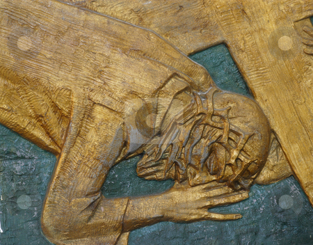 Jesus falls the second time stock photo, 7th Station of the Cross - Jesus falls the second time by Zvonimir Atletic