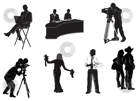Print stock photo, Collection of humans associated with film and media industry by Abhishek Poddar