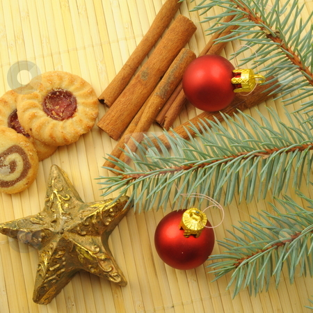 Xmas still life stock photo, Xmas or christmas still life with cookies by Gunnar Pippel