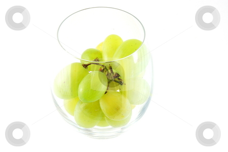 Grape in a glass stock photo, Its a grape in a glass isolated on white background. by Gunnar Pippel