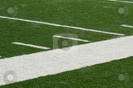Football field side line stock photo, A Football field side line by Jim Mills