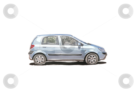 Water color car stock photo, An illustration of a nice water color car by Markus Gann