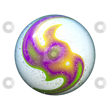 Glass marble stock photo, An illustration of a nice glass marble by Markus Gann