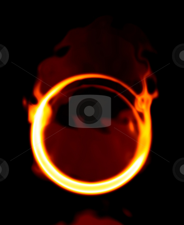 Fire ring stock photo, An illustration of a nice abstract fire ring by Markus Gann