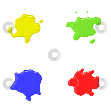 Color splash stock photo, An illustration of 4 nice abstract color splashes by Markus Gann