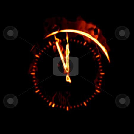 Fire clock stock photo, An illustration of a big fire clock by Markus Gann