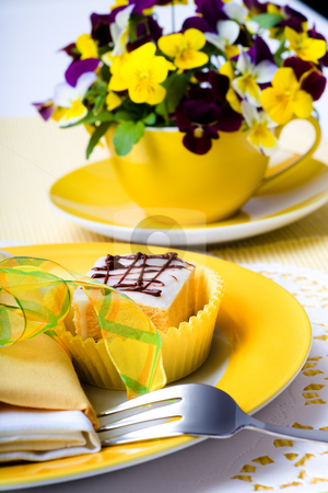 Cake stock photo, Pieces of cake on a plate by Val Thoermer
