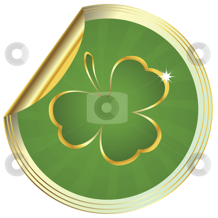 Shamrock design  stock photo, Shamrock design, clover sticker by Richard Laschon