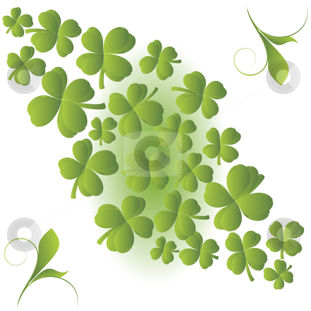 Clover background stock photo, Clover background for St. Patrick's Day by Richard Laschon