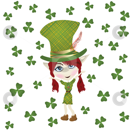 St Patrick' Day stock photo, Pointed ear leperchaun celebrating St Patrick' Day by Richard Laschon