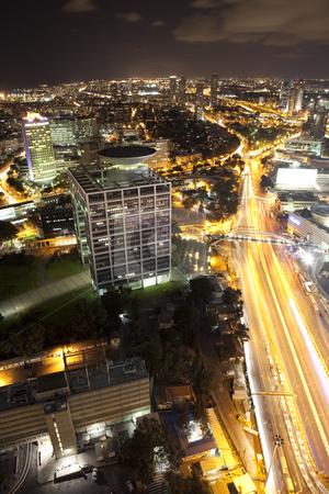 Night Cityscape stock photo, Modern city, Tel Aviv,  Israel by Dmitry Pistrov