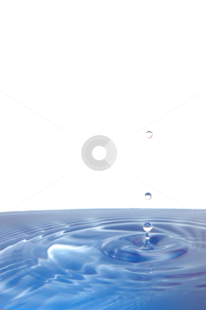 Splashing water drop stock photo, Healthy lifestyle concept with splashing water drop isolated on white background by Gunnar Pippel