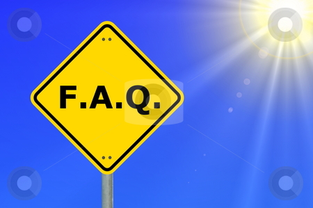 Faq stock photo, Faq or frequently asked question showing internet concept by Gunnar Pippel