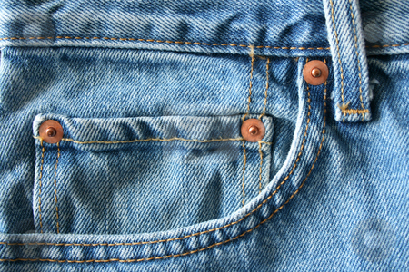 Blue Jeans Pocket stock photo, A close up of a Blue Jeans Pocket by Jim Mills