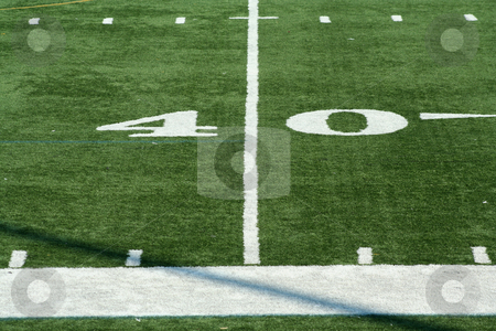 Football fourty yard marker stock photo, A white Football fourty yard marker by Jim Mills