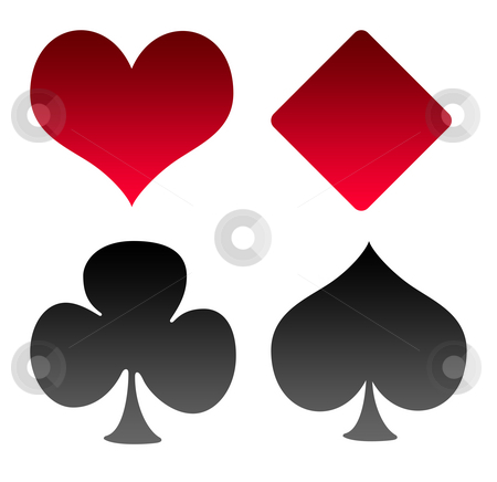 Playing Card Suit Templates http://cutcaster.com/photo/100624059-Playing-Card-suts/