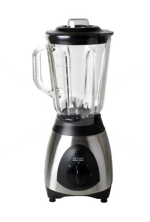 Blender isolated on white with path stock photo, Kitchen blender isolated on white with clipping path by Jon Helgason
