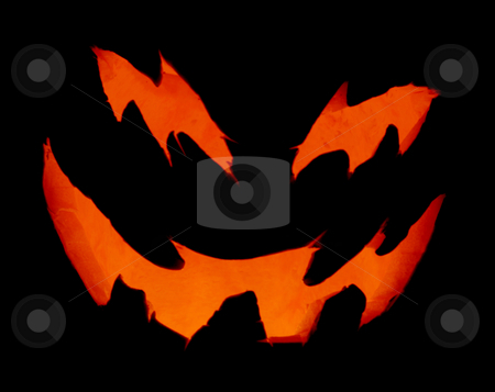 Scary Pumpkin Up Close stock photo, A close up of a pumpkin carved with for halloween. by Chris Hill