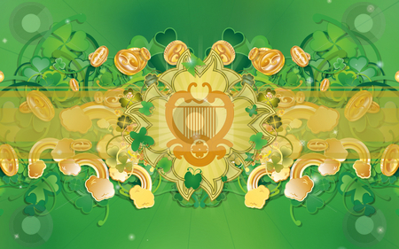 Saint Patrick's Day - Celtic Harp stock photo,  by Giuseppe Scrofani