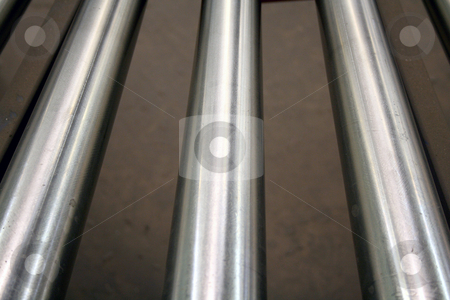 Conveyor Rollers stock photo, An image of some Conveyor Rollers by Jim Mills