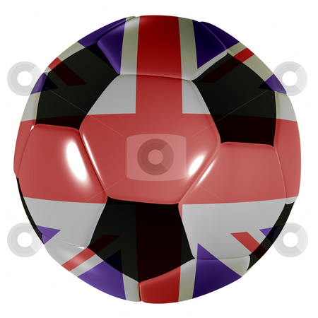 Football traditional black stock photo, Traditional black and white soccer ball or football by Michael Travers