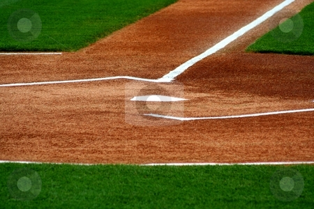 Home Plate stock photo, An image of home plate by Jim Mills