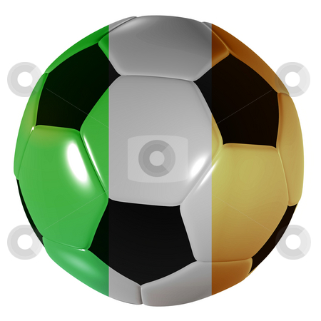 Football ireland stock photo, Traditional black and white soccer ball or football irish by Michael Travers