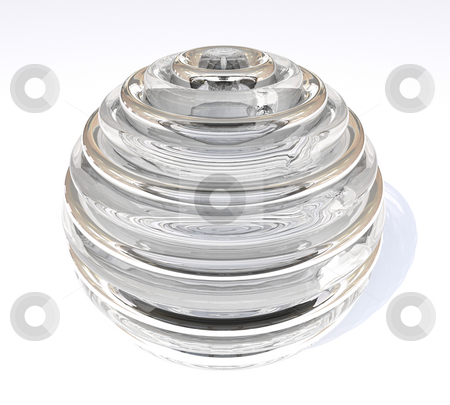 Glass orb stock photo, Transparent glass orb with shadow ideal ornament element by Michael Travers