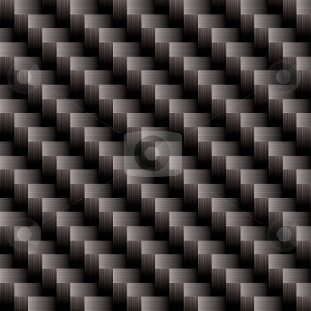 Carbon fiber cross weave stock vector clipart, Seamless illustrated vector carbon fiber background pattern that will repeat by Michael Travers