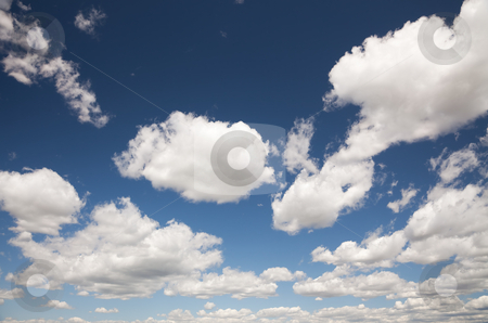 Beautiful Sky and Clouds stock photo, Beautiful Sky and Clouds on a Deep Blue Sky. by Andy Dean