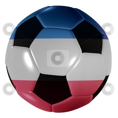Football yogoslavia stock photo, Traditional black and white soccer ball or football yogoslavia by Michael Travers