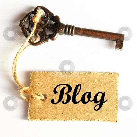 Blog stock photo, Internet or web blog concept with old grunge key by Gunnar Pippel