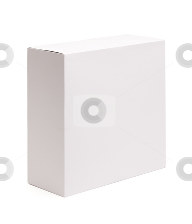Blank White Box Isolated on White stock photo, Blank White Box Isolated on a White Background Ready for Your Own Graphics. by Andy Dean