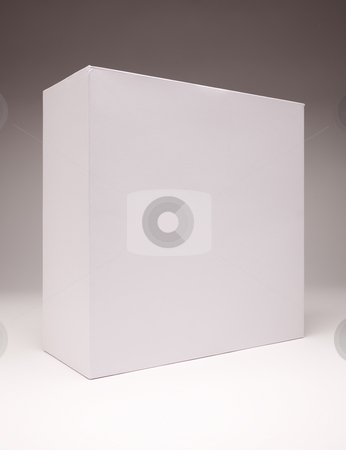 Blank White Box on Grey stock photo, Blank White Box Isolated on a Grey Background Ready for Your Own Graphics. by Andy Dean