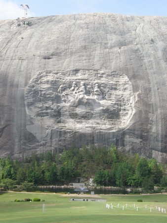 Stone Mountain stock photo, Stone Mountain in Georgia, USA by Ritu Jethani