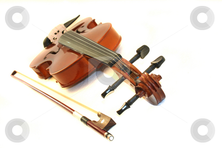 Violin stock photo, Violin on white background by Marén Wischnewski