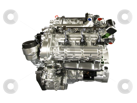 Car engine stock photo, Car engine isolated by Goce Risteski